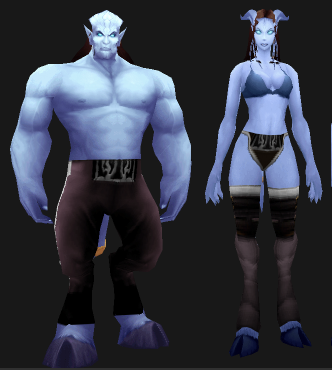 Male and Female Night Elf in Pants