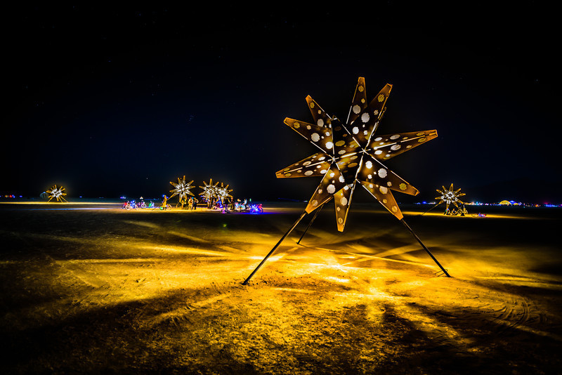 dream a little star | burning man ~ john chandler photograph