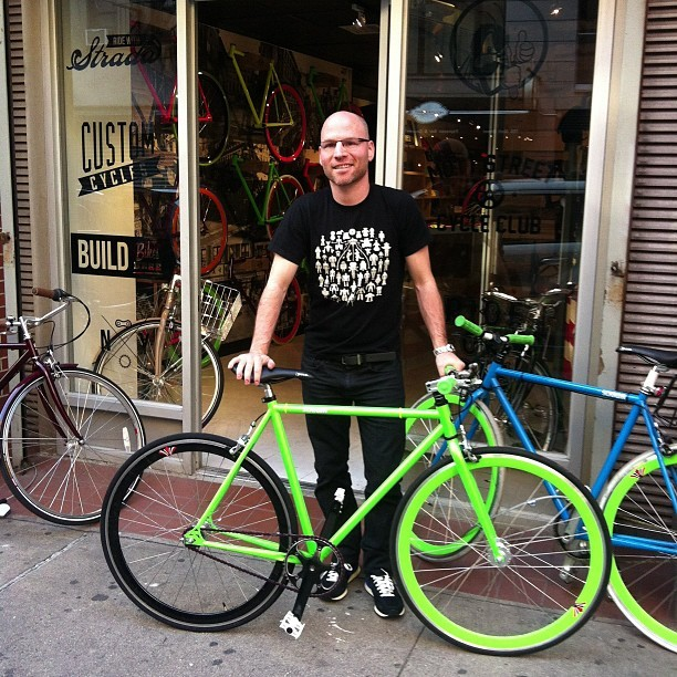 @drdarkness  with a bright bike! #stradacustoms  (Taken with Instagram)