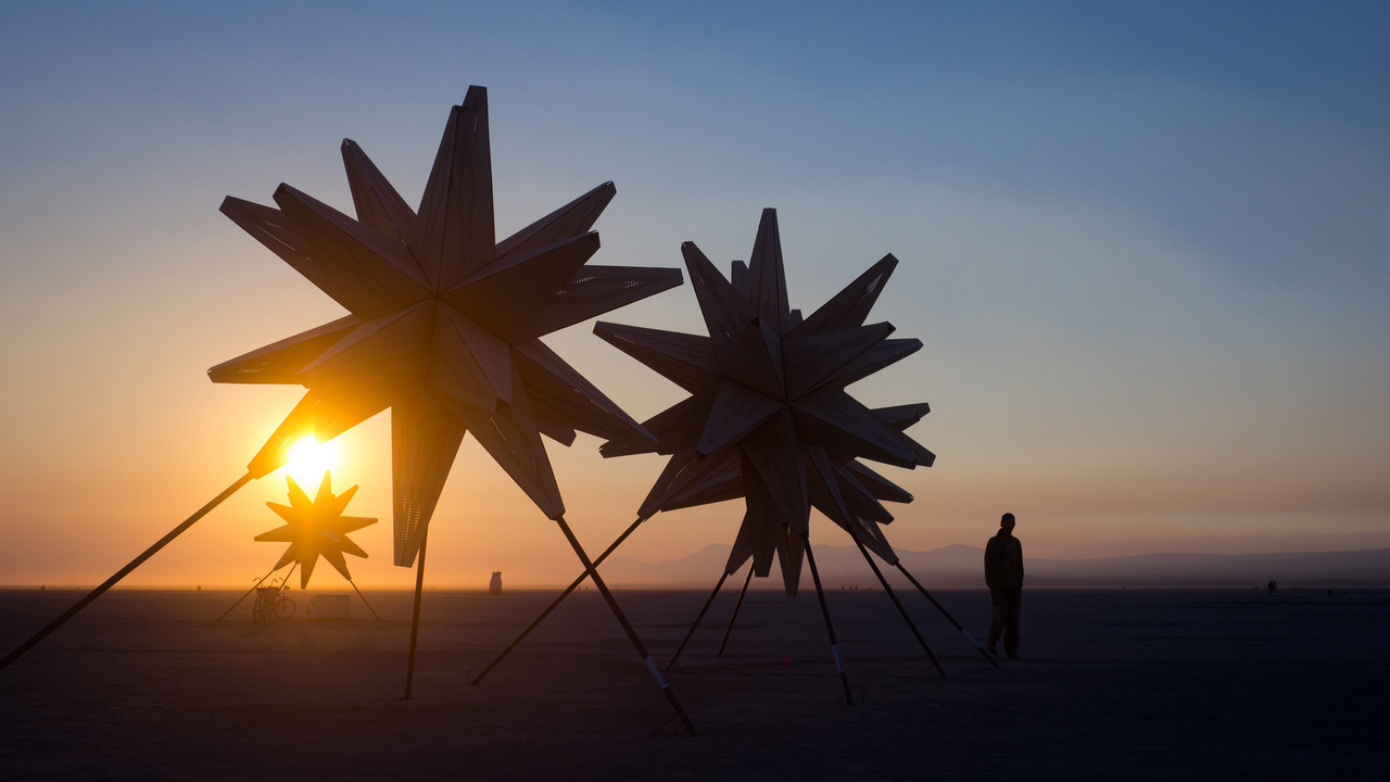 starlight sunrise | burning man ~ starlight on the playa