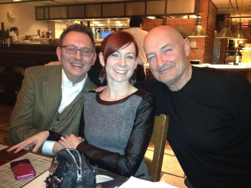 Michael Emerson, Carrie Preston and Terry O'Quinn out to dinner last night.