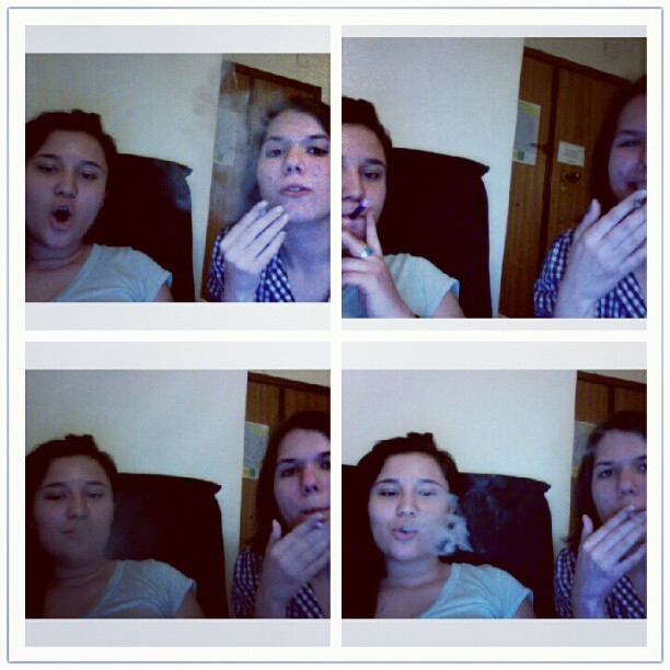 Gabba and I #smoking #firsttimesmoking #virginsmoker  (Taken with Instagram)