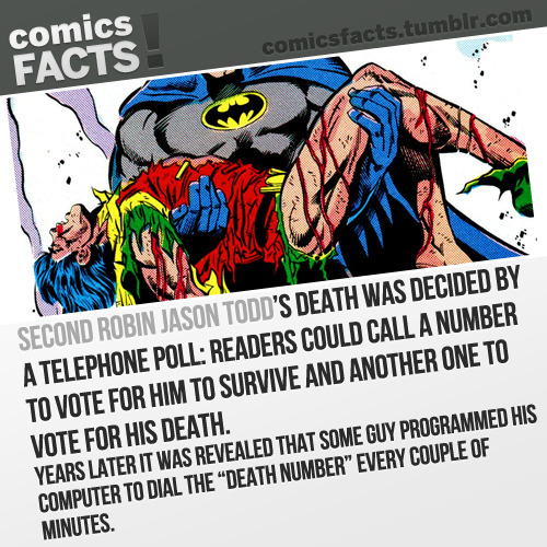 comicsfacts:  Source  the Joker didn't kill him. a dialer killed Jason Todd!!!