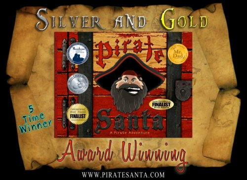 Pirate Santa won a Moonbeam award! www.piratesanta.com We won in the category of Best Picture book and theatrical presentation. Our Audio Cd help us win the award.