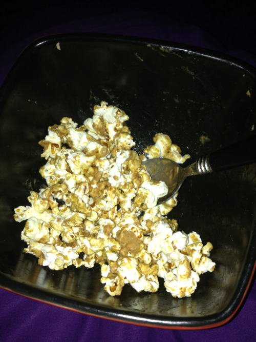 I just popped my own popcorn on the stove and added peanut butter and maple syrup..I'm a genius!