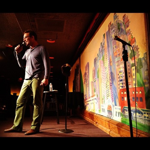 saymyname:  @JAdomian dominating the room. (Taken with Instagram at Punchline Comedy Club)  Thankee Beth Stelling and evverbody at Punchline for a great week in San Francisco!