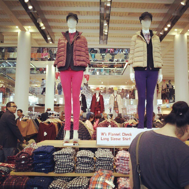 The majority of people in Uniqlo are Asians #sf #uniqlo #awesome (Taken with Instagram)