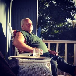 Love my Father more than anything. Martinis on the porch over some stories. Please never leave me. (Taken with Instagram)