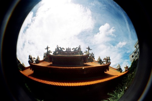 Asia in Fisheye [20]: Temple in Jiufen (九份), Taiwan (台灣).