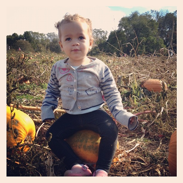 Pickin' pumpkins! (Taken with Instagram at Ramsey's Farm)