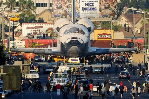 Space Shuttle Photo of the Day: In case you missed it this weekend, space shuttle Endeavour took a stroll through the streets of Los Angeles. [nerdcore]