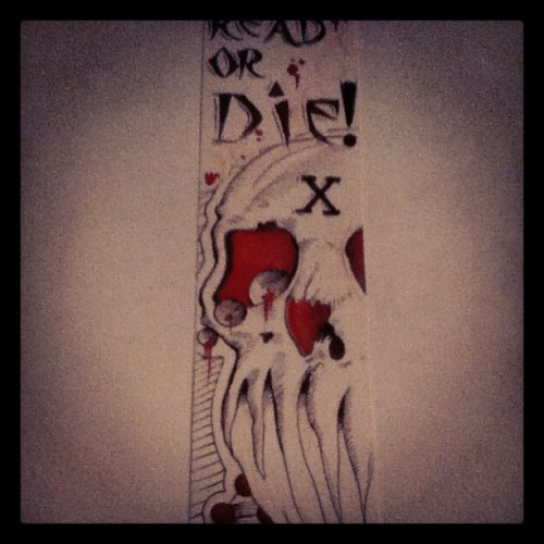 Read or die. #books #bookmark #doodle #enrichyourmind #skull #readabook (Taken with Instagram)