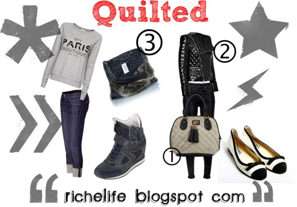 Quilted by richelife featuring wedge trainers
