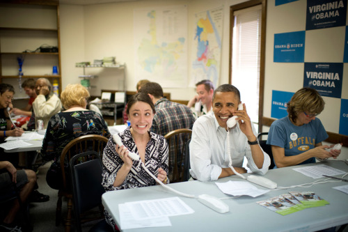 barackobama:  You never know who might show up at your local phone bank.