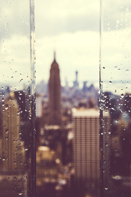 cloudedcamera-:  Manhattan in the rain* (by aiduke)