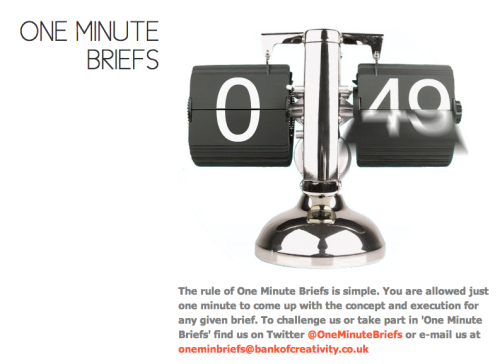 helloyoucreatives:  Kick Monday in the face by taking on a One Minute Brief @OneMinuteBriefs