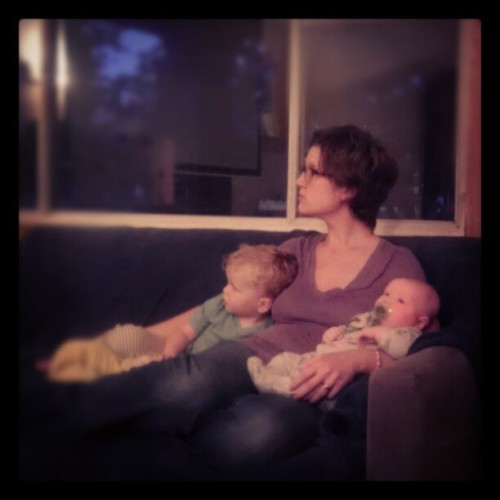 @mandierae and her ducklings, winding down after a busy day.  (Taken with Instagram)