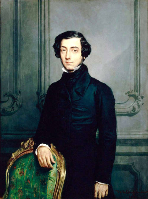 "Alexis de Tocqueville can only be properly read with coffee. ""Literary genius does not exist without freedom of mind, and there is no freedom of mind in America"" (Democracy in America, 1835)."