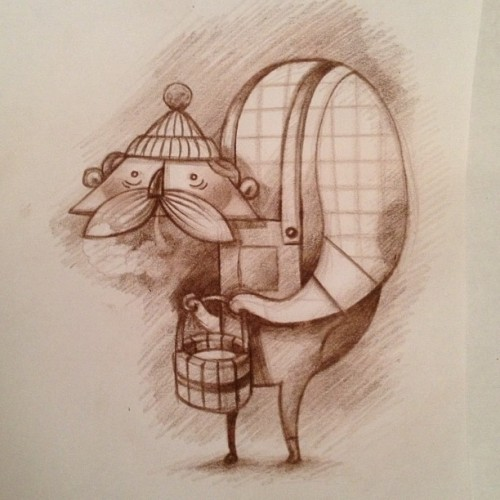 Another character sketch from my upcoming childrens book project.  (Taken with Instagram)