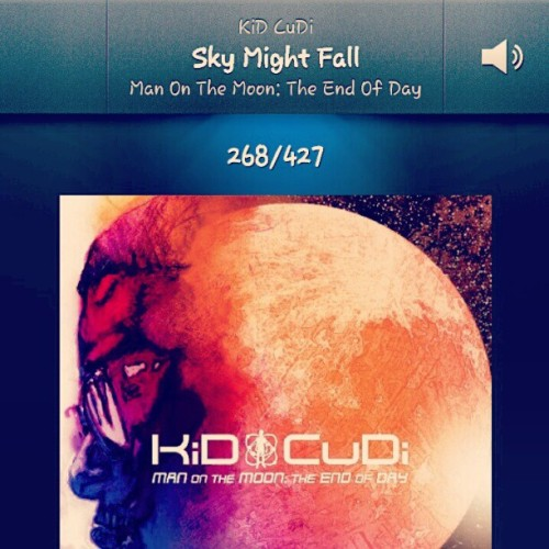 My Absolute Favorite Song By Cudi. #SkyMightFall #ManOnTheMoon  (Taken with Instagram)
