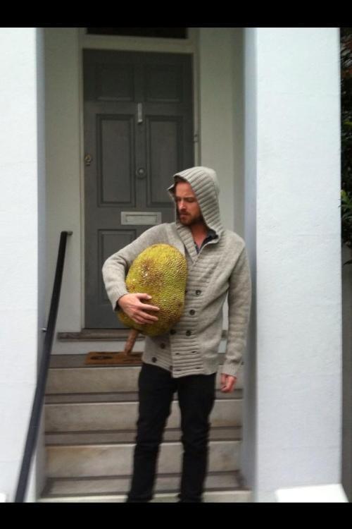 Fruity. Aaron Paul and his reaping. [tweet]