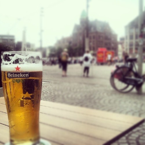Heineken in Amsterdam. #Amsterdam #beer #Heineken #drinks (Taken with Instagram)