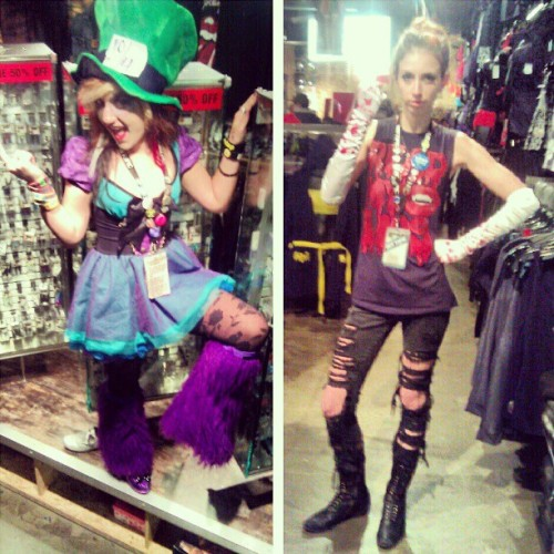 Zombie Mad Hatter and zombie slayer! (Taken with Instagram)