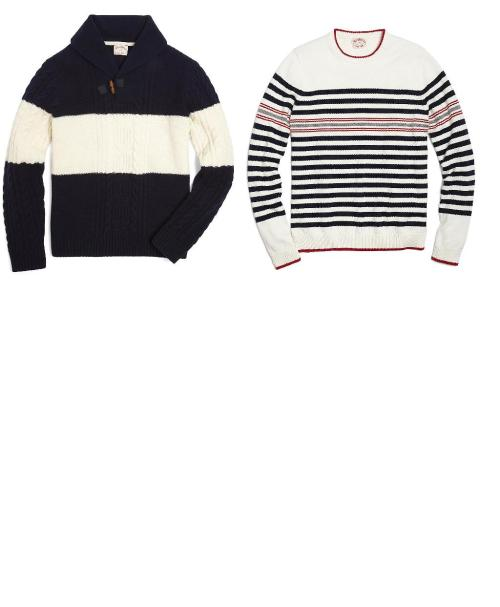 #BrooksBrothers I WANT!!! Cable Knit Sweater, Stripe Crewneck