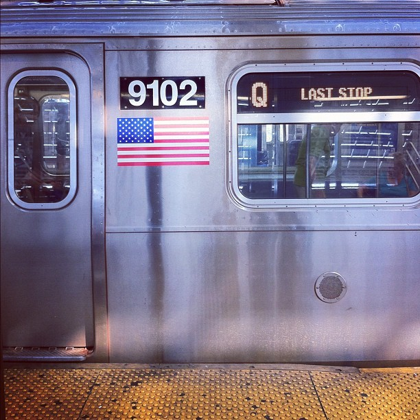 9102 Q #laststop.  #subway #flag #usa #nyc  (Taken with Instagram)