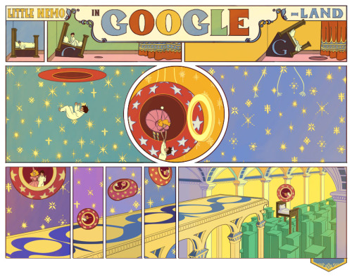 shortformblog:  Little Nemo in Google-Land: Stop what you're doing and going to the Google Japan site now. This doodle is multi-paneled, guys.  This is beautiful, check it out!