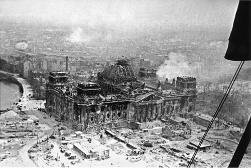 operationbarbarossa:  The Reichstag in ruins; Berlin, Germany - 30 April 1945