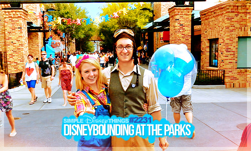 Isaac and Brooke DisneyBounding as Carl & Ellie. How cute!