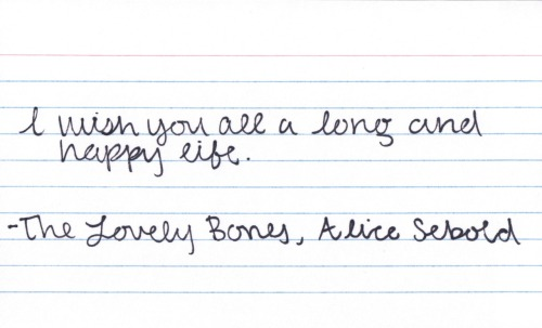 the lovely bones essay notes