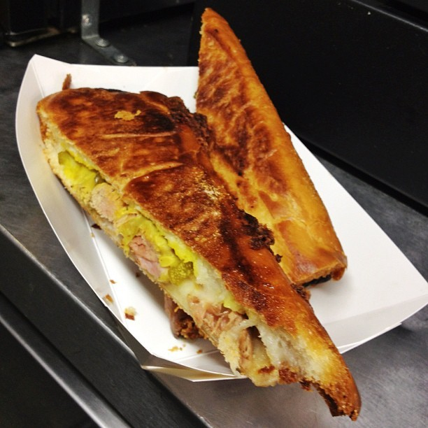 Be careful what you wish for… deep-fried Cuban sandwich! Thanks @TwistedCubanMFT #foodtruck #awesome (Taken with Instagram)