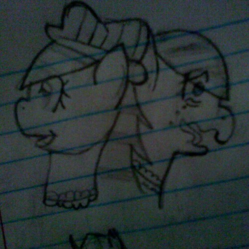 I dunno I drew it. I was sad. Blah. (Taken with Instagram)