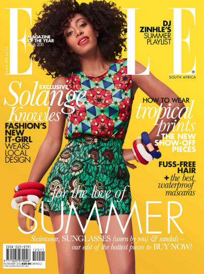 Solange Knowles covers ELLE Magazine South Africa!