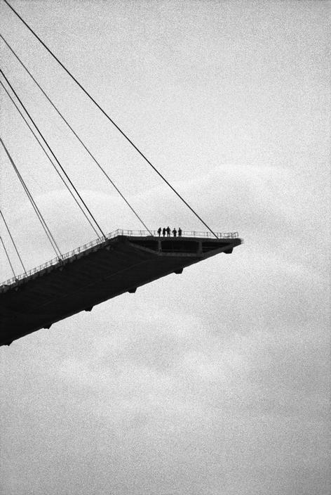 adanvc:  Le Pont de Normandie, France, 1993. by Jean Gaumy