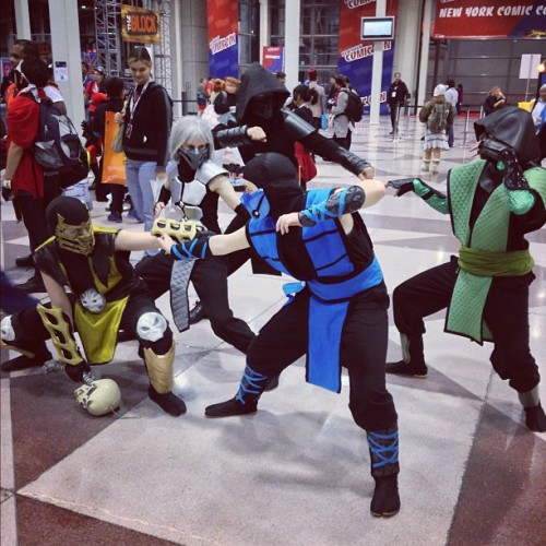 Mortal Kombat #NYCC style. #cosplay #finishhim #fatality #games (Taken with Instagram)