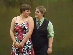 The girlfriend and I at my cousins wedding. Aren't we adorable?!