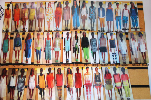 lineup at Tracy Reese: girls and clothes of all colors, a beautiful sight!