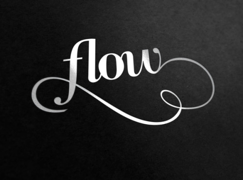 iloveligatures:  Let it Flow  Estudio de Diseño - Flow-Estudio ____ Facebook | Twitter | Tumblr | Pinterest