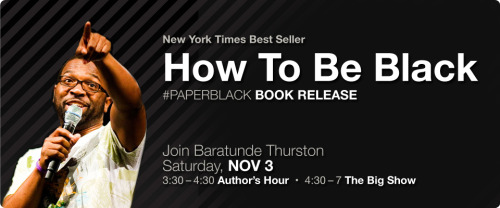 Massive How To Be Black event in San Francisco on Saturday Nov 3rd. The paperblack edition of the book comes out October 30, and when we did the round of national shows and parties for the hardcover, San Francisco drew the short stick. We are rectifying that with the biggest and best event yet featuring Bay Area comedian Kevin Camia, dancer and educator Denae Hannah, Black Grouse Whisky, and Baratunde headlining.  Get your tickets now. They are limited!