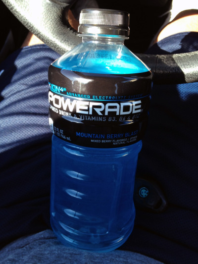 BLUE Powerade: Nectar of the (Buff) Gods.