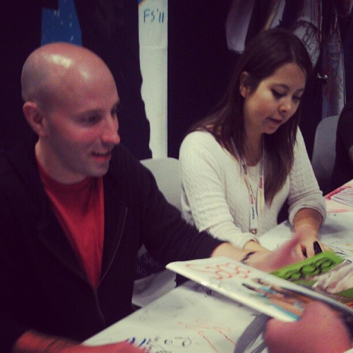 Brian and Fiona #saga #macomicny @newyorkcomiccon (Taken with Instagram)