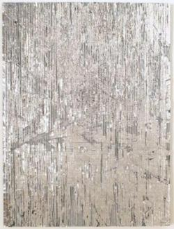 Cheryl Donegan, Luxury Dust (Silver), 2007, 46 x 61 cm, mixed media on cardboard