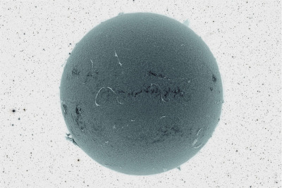 cometsmeteoroids:  Black Sun and Inverted Starfield Image Credit & Copyright: Jim Lafferty