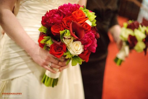 Bouquet in hand, Washington, DC