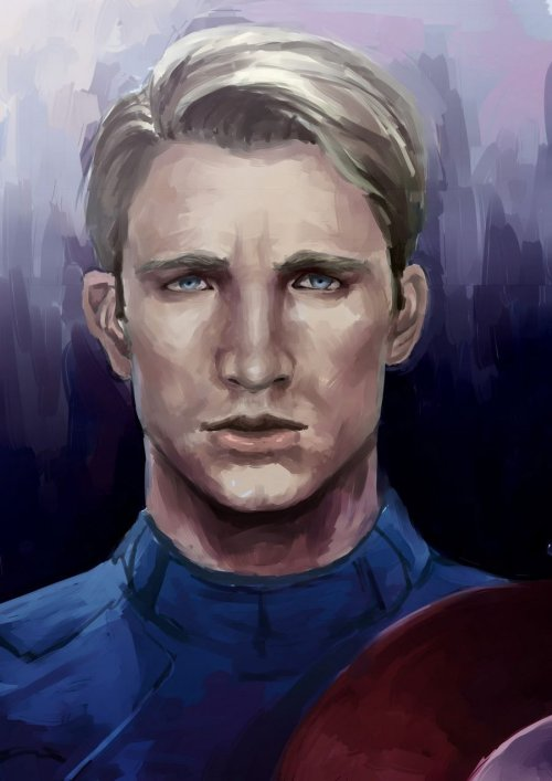 whipbogard:  mr-wool:  I'm captain's fan hahaha. Painting the Captain is so enjoyable~  wow this is amazing!! *_*