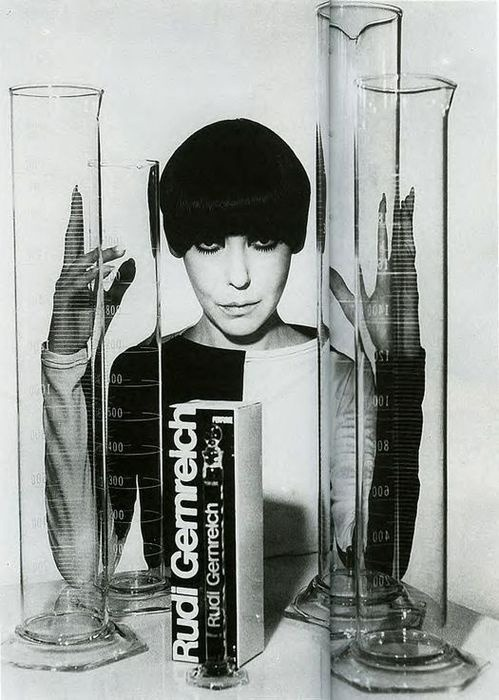 theswinginsixties:  Peggy Moffitt in a dress by Rudi Gernreich.