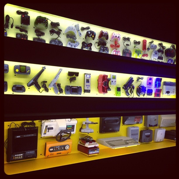 Impressive display of video game consoles and controllers. Game Masters exhibition ACMI Melbourne. (Taken with Instagram)